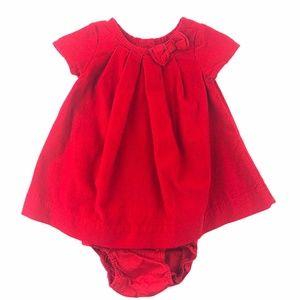 Baby Gap Red Corduroy Dress & Bloomers